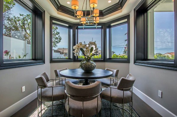 Dining Room Black And White Trey Ceiling Ideas
