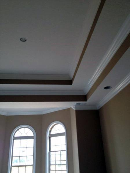 Tan And White Double Trey Ceilings For Dining Room