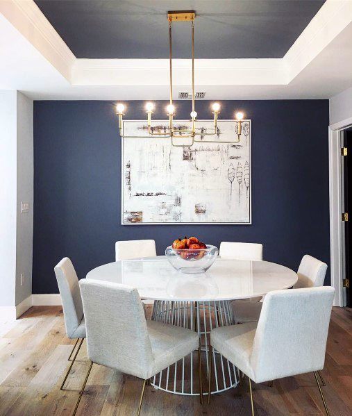 White And Navy Blue Trey Ceiling Ideas