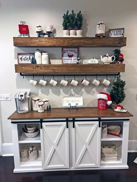 Cool Rustic Coffee Bar Ideas