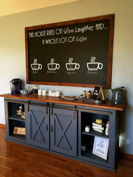 Dark Grey Coffee Bar Ideas
