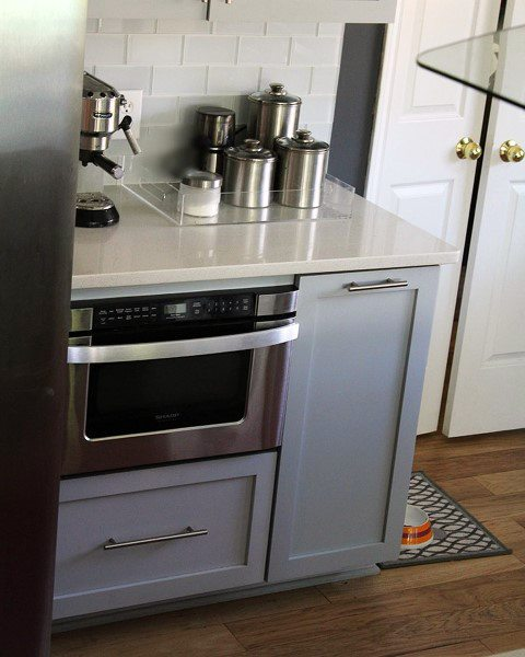 Grey Cabinets White Countertops Coffee Bar Ideas