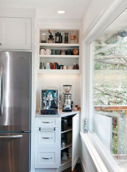 Small Kitchen Coffee Bar Ideas