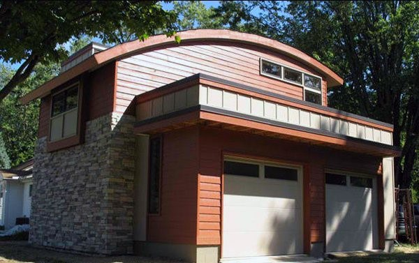 Curved Roof Detached Garage Ideas