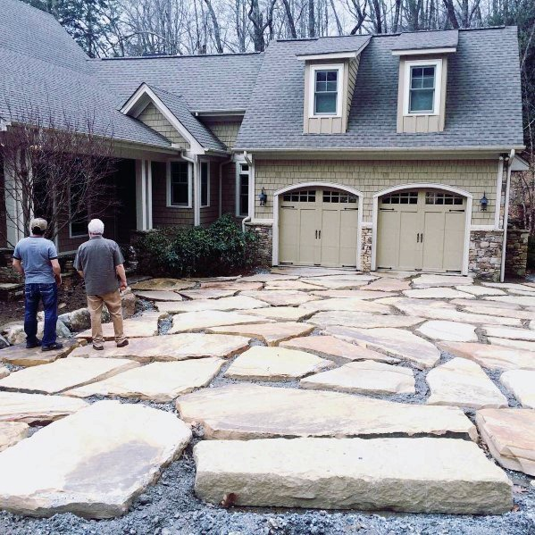 Natural Stone Rock Driveway Ideas