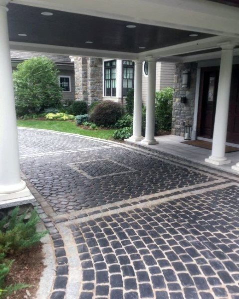 Rustic Stone Paver Driveway Ideas