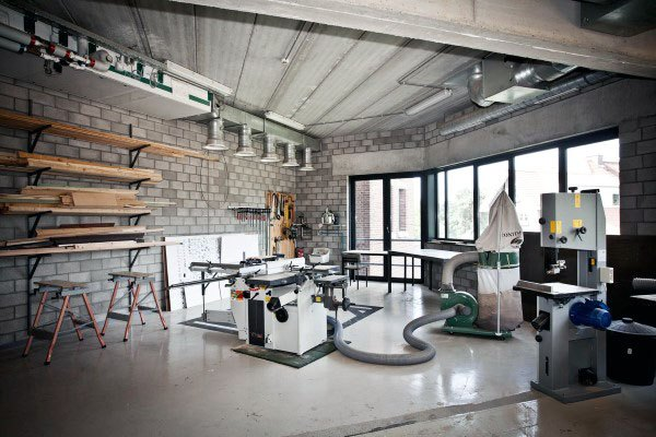 Industrie Garage Workshop Ideen