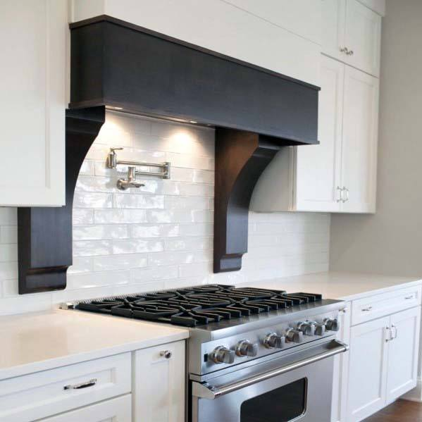 Home Design Ideas Kitchen Hood Painted Black
