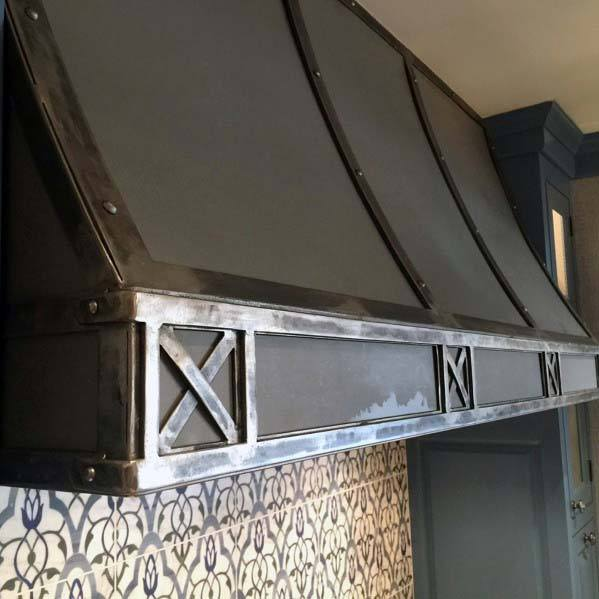 Industrial Metal Interior Ideas For Kitchen Hood
