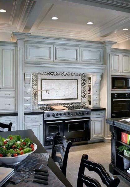 Rustic Wood Traditional Kitchen Hood Ideas