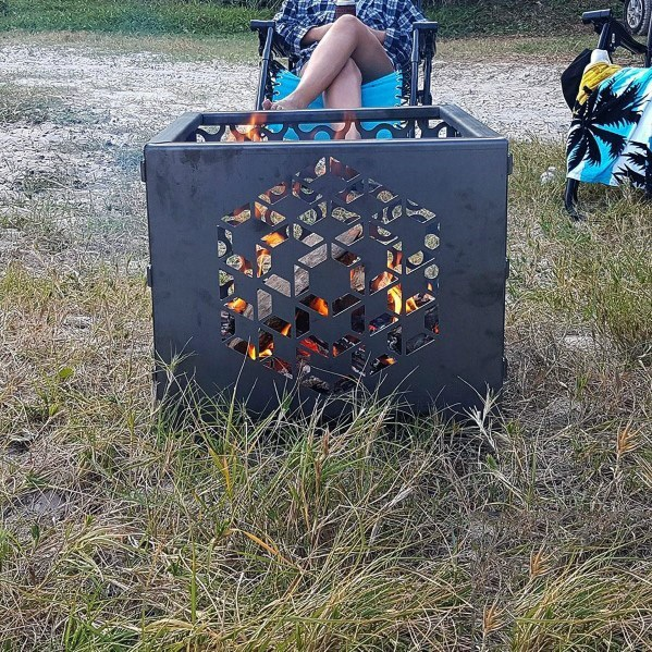 Geometrische Muster Cool Metal Fire Pit