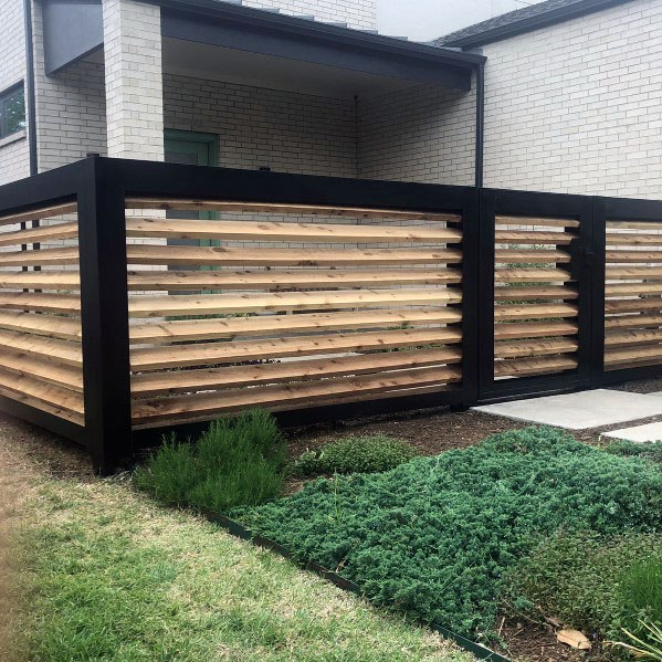 Angled Wood Excellent Exterior Ideas Modern Fence