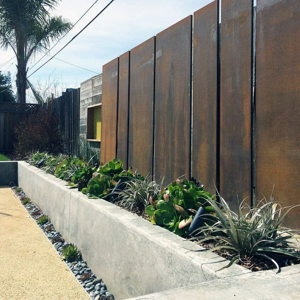 Luxury Modern Fence Ideas Mild Steel Panels