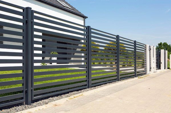 Metal Home Ideas Modern Fence