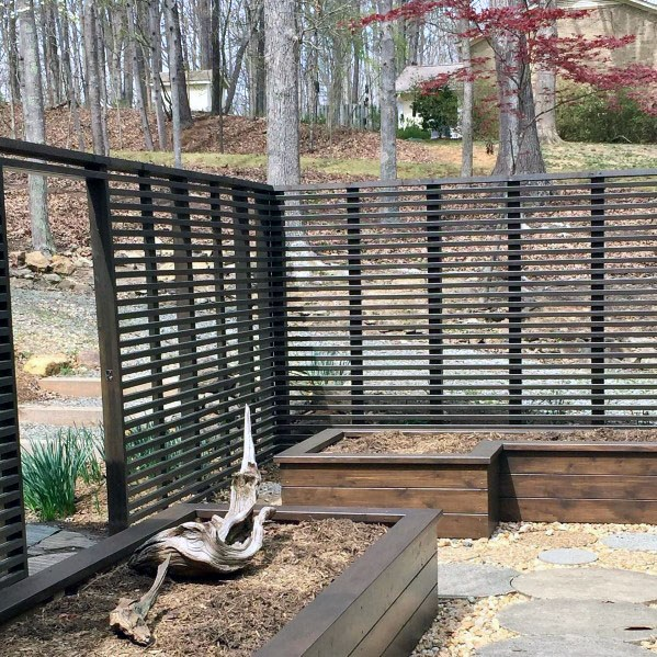 Metal Modern Slat Fence Ideas For Backyard