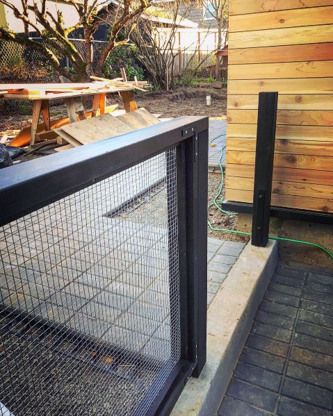 Metal With Mesh Wire Design Ideas Modern Fence