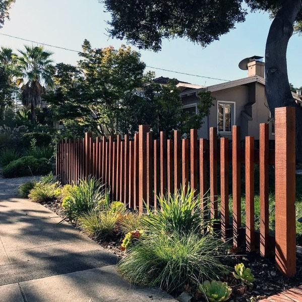 Square Poles Nice Modern Fence Exterior Ideas