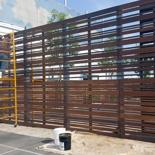 Unique Metal Horizontal Fence Design Ideas