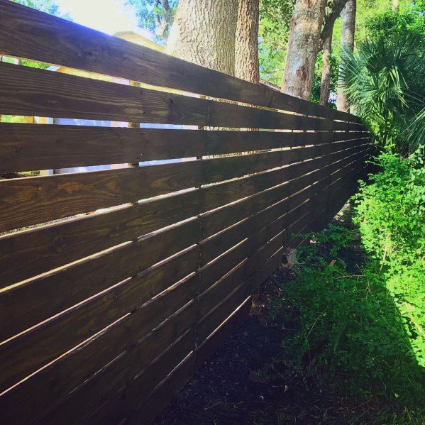Wood Boards Exterior Designs Modern Fence