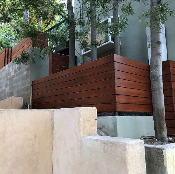 Wood Ipe Home Exterior Modern Fence