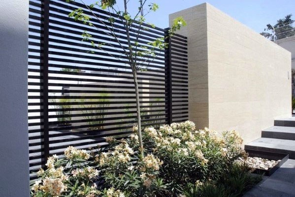 Contemporary Home Modern Fence Ideas Metal
