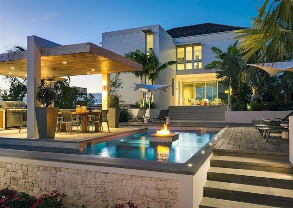 Contemporary Home Ideas For Pool Lighting