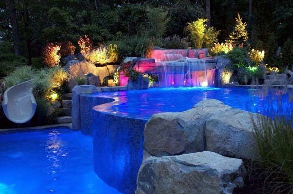 Backyard Ideas For Pool Waterfall