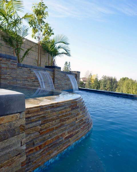 Idea Inspiration Pool Waterfall Designs