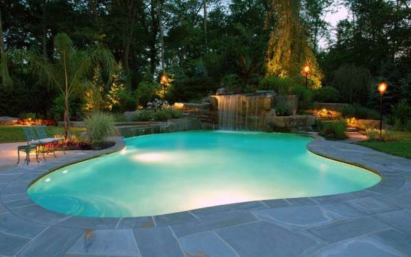 Ideas For Home Pool Waterfall