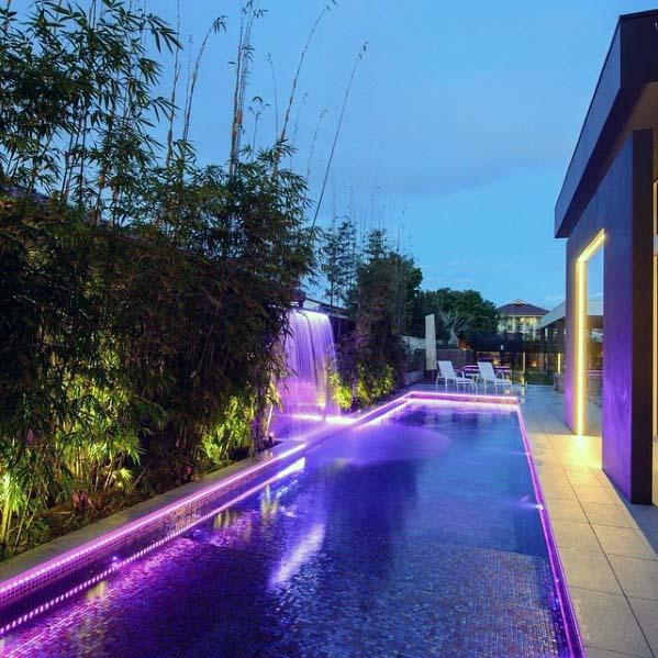 Modern Luxury Pool Waterfall