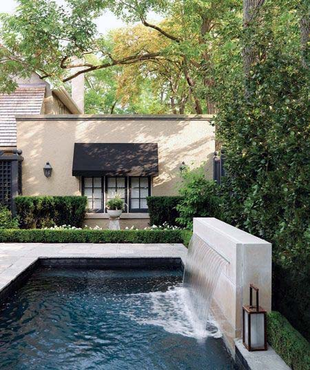 Modern Stone Wall Design Ideas Pool Waterfall