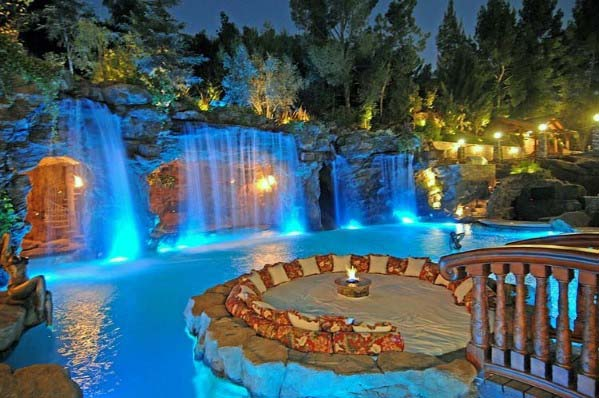 Pool Waterfall Design Idea Inspiration