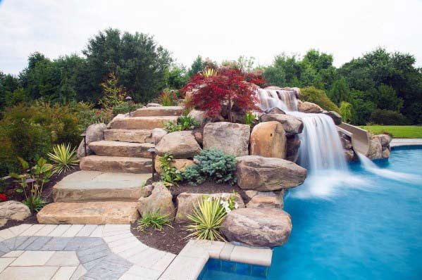 Pool Waterfall Home Ideas