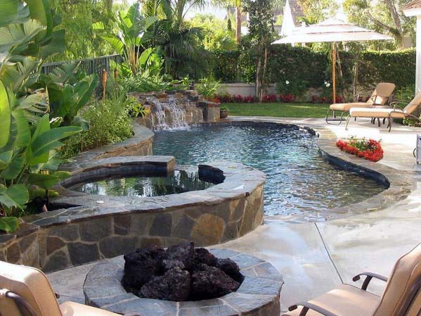 Pool Waterfall Ideas