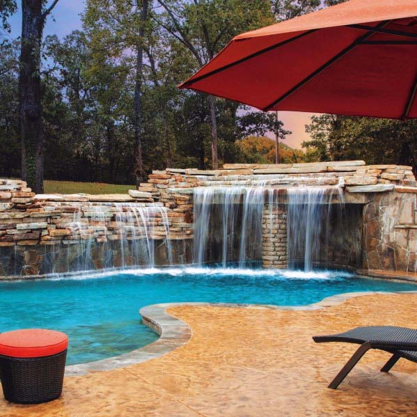 Remarkable Ideas For Pool Waterfall