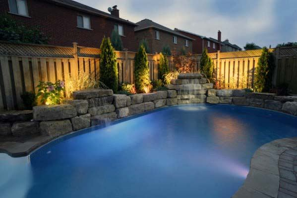 Rock Landscaping Designs Pool Waterfall