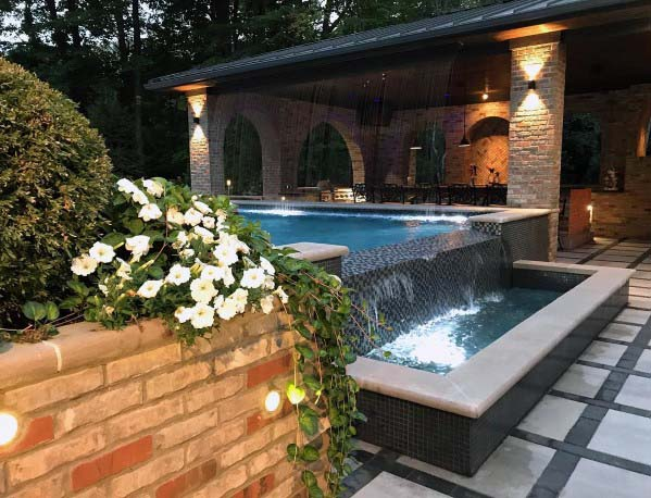 Roof Cool Pool Waterfall Design Ideas