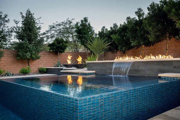 Contemporary Ideas For Pool Waterfall Backyard