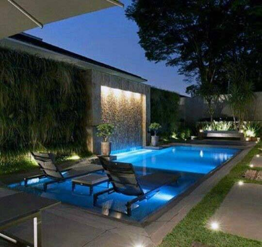 Superb Pool Modern Waterfall Ideas