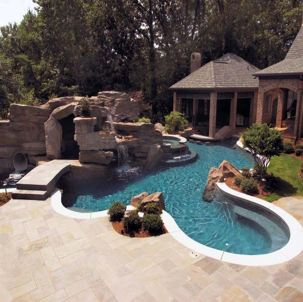 Exceptional Large Rock Pool Waterfall Ideas