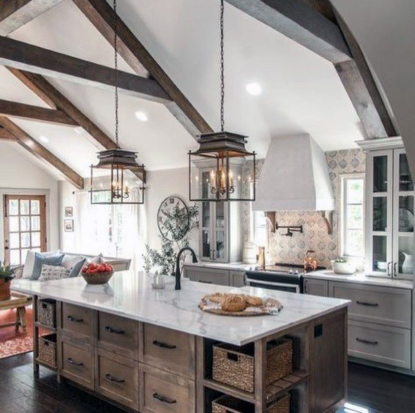 Lighting Pendants Rustic Kitchen Ideas