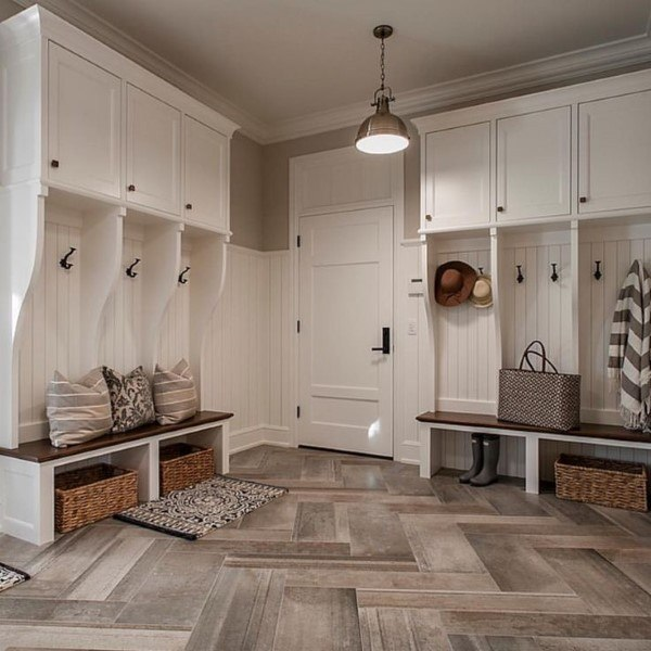 White Traditional Mudroom Ideas