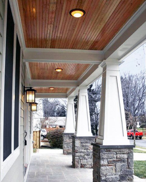 Top 70 Best Porch Ceiling Ideas - Covered Space Designs