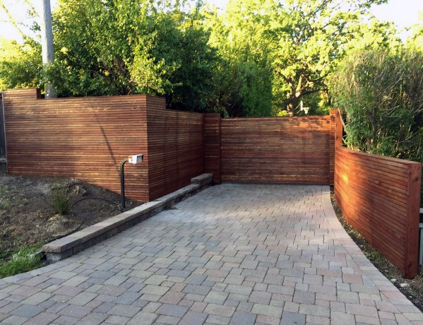 Driveway Designs Wooden Fence With Gate