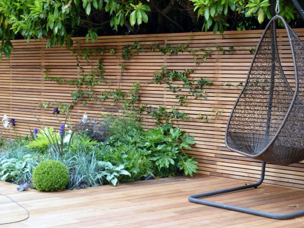 Excellent Backyard Ideas Wooden Fence