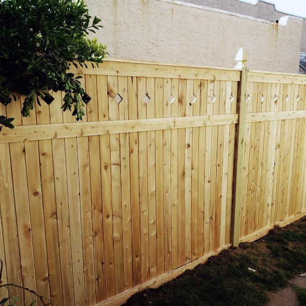 Exterior Wood Fence Design