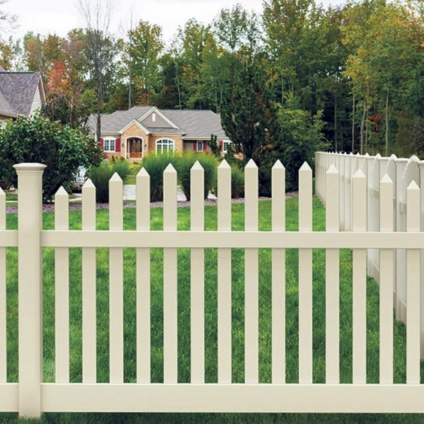 Home Ideas White Painted Picket Wooden Fence