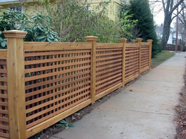 Lattice Design Ideas Wooden Fence