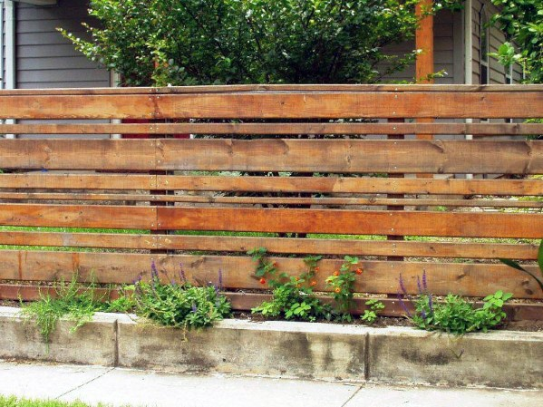 Nice Wooden Fence Backyard Ideas