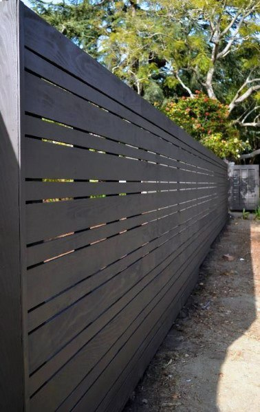 Unique Black Wooden Fence Home Ideas